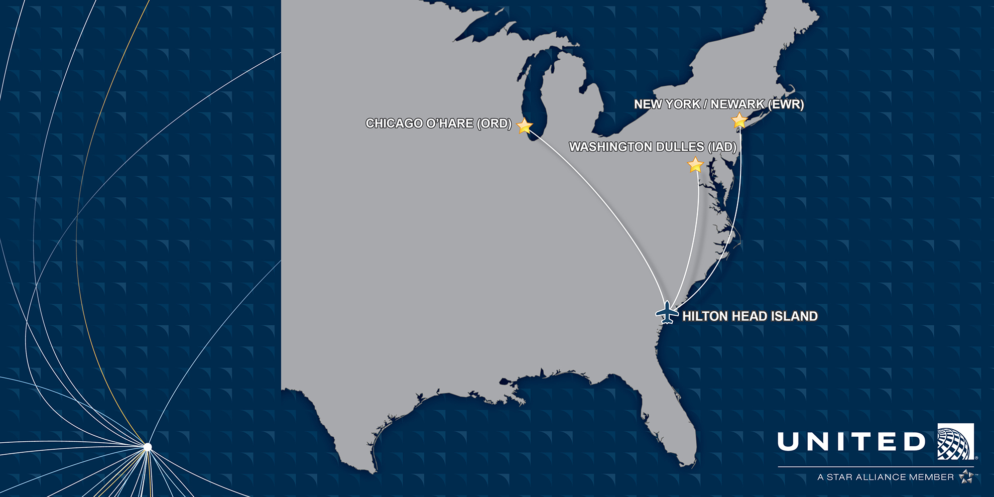 United Airlines to Launch Three New Routes to/from Hilton ... on flat global map of world, united airlines system map, united continental airlines flight map, united airlines destinations map, american airlines map routes world, united airlines routes map flight paths, alaska airlines route map world,